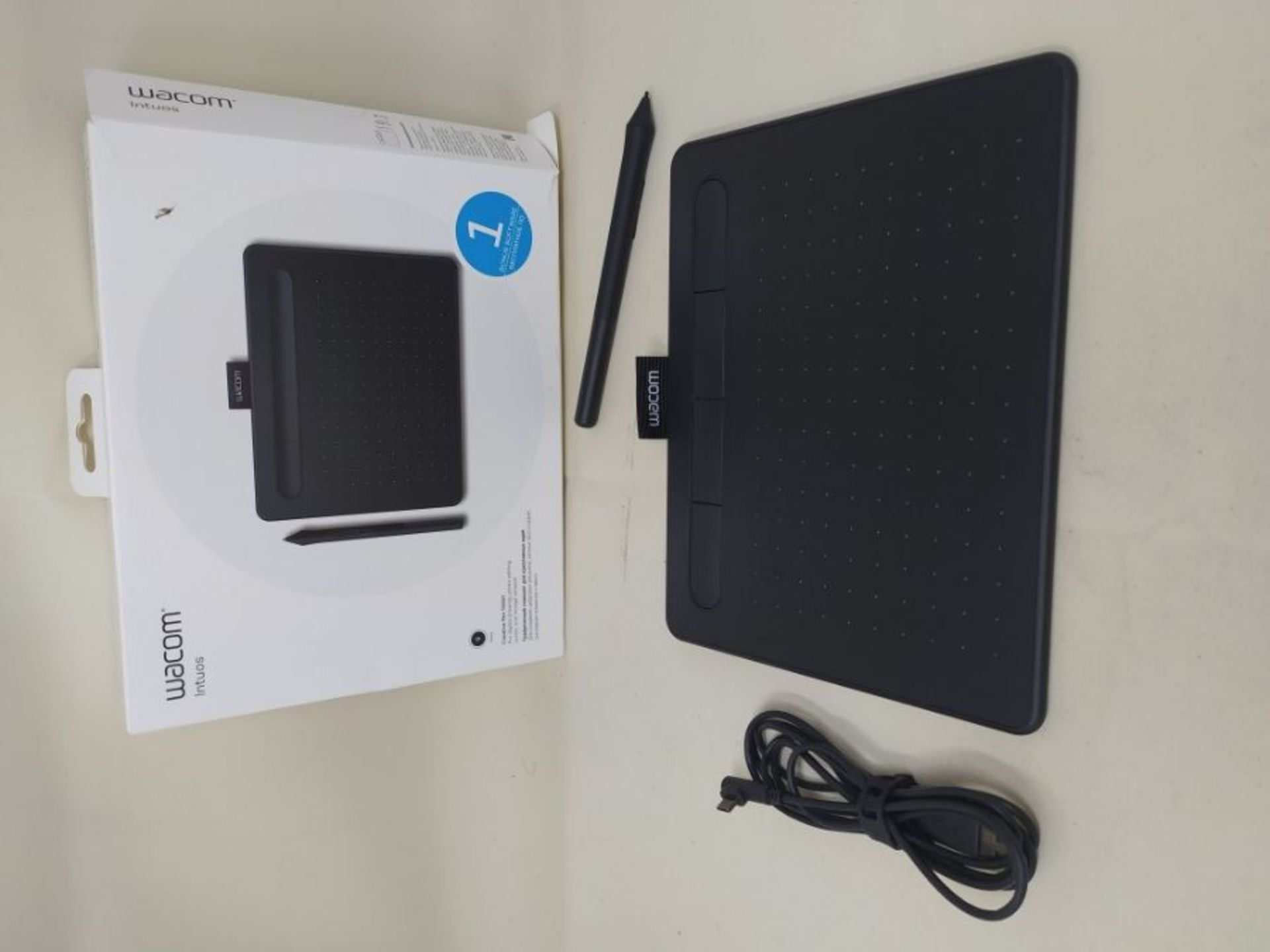 RRP £59.00 Wacom Intuos Small Black, Graphic Tablet for Painting, Sketching and Photo Retouching - Image 2 of 2