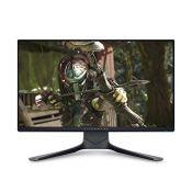 RRP £299.00 (BROKEN SCREEN) Alienware AW2521HFA 24.5 Inch Full HD (1920x1080) Gaming Monitor, 240H