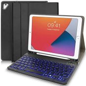 Keyboard for iPad, 9.7 iPad Case with Keyboard 7 Backlit Colors iPad Air Keyboard Rech