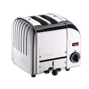 RRP £149.00 Dualit Classic 2 Slice Vario Toaster - Stainless Steel, Hand Built in the UK - Replace
