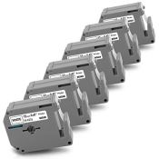 6X Pristar 12mm Compatible Label Tape Replacement for Brother MK Label M-K231 M-K231BZ
