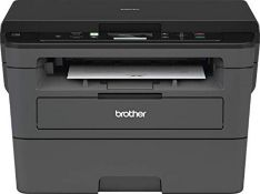 RRP £218.00 Brother DCP-L2530DW Mono Laser Printer - All-in-One, Wireless/USB 2.0, Printer/Scanner