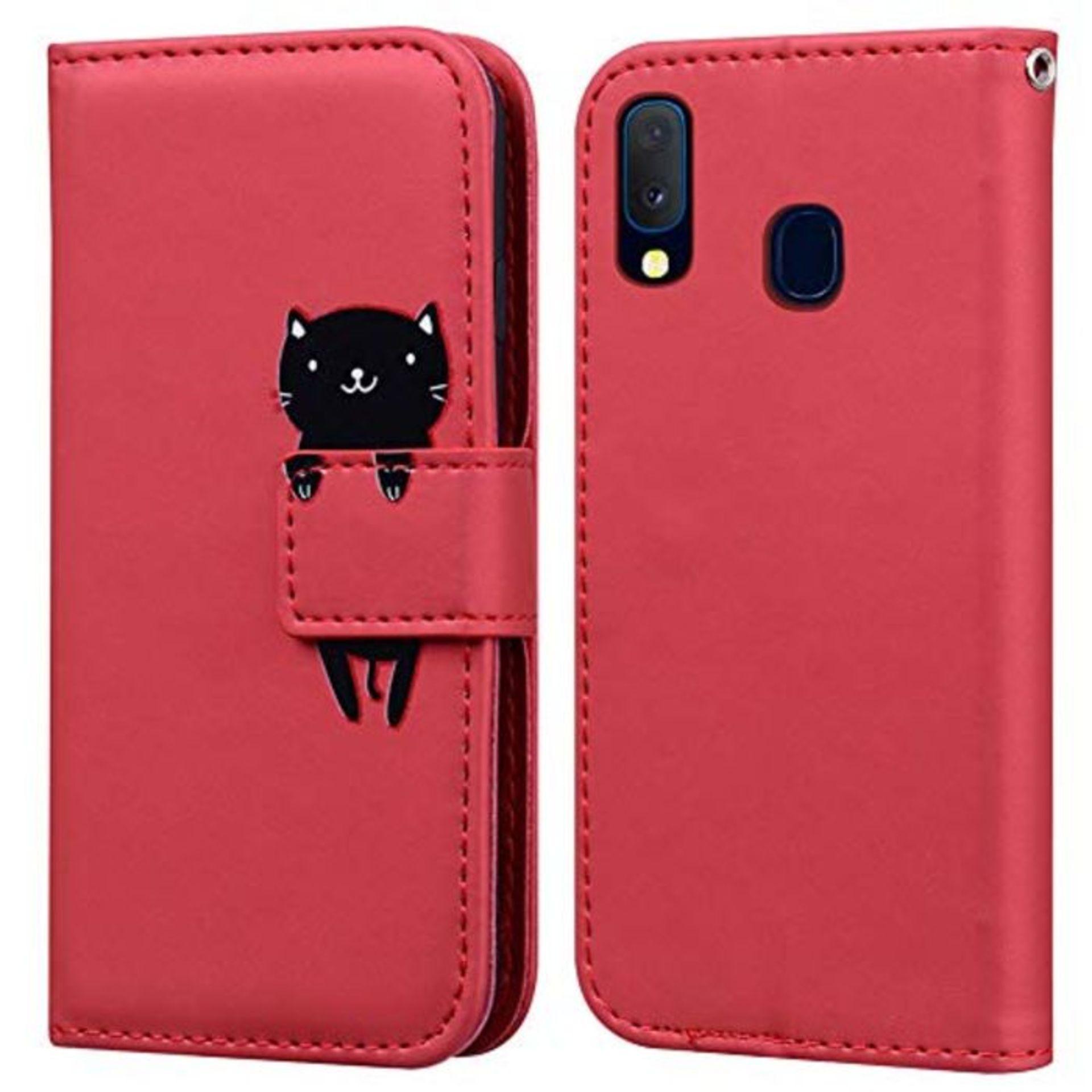 Ailisi Galaxy A20e Case, Cute Cartoon Animal Leather Wallet flip case Creative magneti