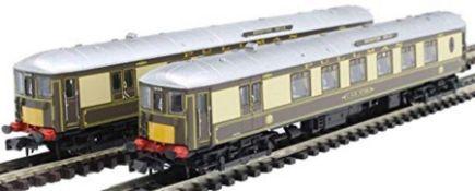RRP £175.00 ARNOLD HN3006 Pullman, Set of 2 Coaches 5-BEL Brighton Belle, Coach and Railcar, Perio