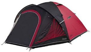 RRP £164.00 Coleman Tent The BlackOut 4, 4 man tent with BlackOut Bedroom Technology, Festival Ess