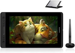RRP £257.00 HUION Kamvas Pro 13 Full HD 13.3 inch Graphics Tablet Monitor with Battery-free for On