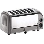 RRP £221.00 Dualit CD336 Vario Toaster, 6 Slices, Metallic Silver