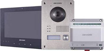RRP £340.00 Hikvision DS-KIS701 Two-Wire Video Intercom Bundle Includes Smart Phone Alerts