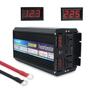 RRP £159.00 Cantonape Power Inverter 3000W/6000W DC 12V to AC 230V 240V Converter Modified Sine Wa