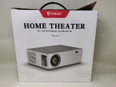 RRP £168.00 Projector, BOMAKER 7200 Native 1080P Projector, 6D Keystone Outdoor Movie Projector Su