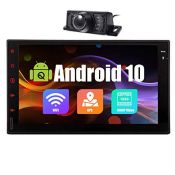 RRP £125.00 Android 10.0 Car Stereo Double Din Bluetooth Car Radio 7 Inch Touch Screen Quad Core H
