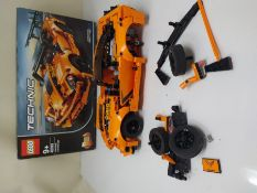 LEGO 42093 Technic Chevrolet Corvette ZR1 Race Car, 2 in 1 Hot Rod Toy Car Model, Raci