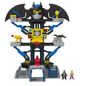 RRP £60.00 Imaginext CHH91 Transforming Batcave, Batman Playset with Lights and Dart Launcher wit
