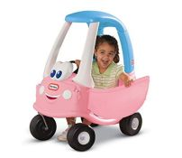 Little Tikes Princess Cozy Coupe Car - Ride-On with Real Working Horn, Clicking Igniti