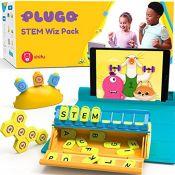RRP £66.00 Shifu Plugo STEM Pack - Count, Letters & Link | Math, Word Building, Magnetic Blocks,