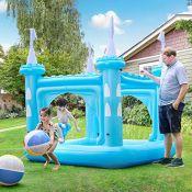 RRP £100.00 Teamson Kids Water Inflatable Giant Paddling Pool with Sprinkler Outdoor Garden Blue C