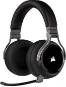 RRP £149.00 Corsair Virtuoso RGB Wireless High-Fidelity Gaming Headset (7.1 Surround Sound, Memory