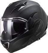 RRP £281.00 [CRACKED] LS2 Casque moto FF900 VALIANT II NOIR, Noir, M