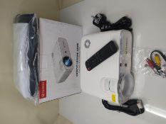 RRP £68.00 VANKYO L430W WiFi Mini Projector w/ 100 Inch Projector Screen, 6500 Lumens Portable Mo