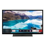RRP £168.00 [CRACKED] Toshiba 24WL3A63DB 24-Inch HD Ready Smart TV with Freeview Play - Black/Silv