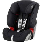 RRP £85.00 Britax Römer car seat 9-36 kg, EVOLVA 123 group 1/2/3, Cosmos Black