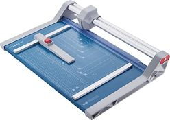 RRP £95.00 Dahle 550 Rotary Trimmer 2020 Model (Cutting Performance up to 20 Sheets / DIN A4) Blu