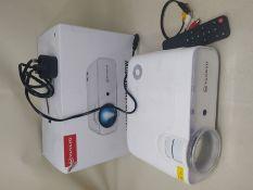 RRP £80.00 VANKYO L430W WiFi Mini Projector w/ 100 Inch Projector Screen, 6500 Lumens Portable Mo
