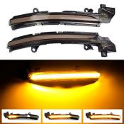 1 Pair LED Dynamic Indicator Lights Side Mirror Sequential Indicators Lamp Rearview Mi