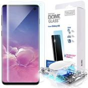 Galaxy S10 Screen Protector, [Dome Glass] Full 3D Curved Edge Tempered Glass [Unique S
