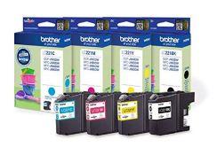 Brother LC-221BK/LC-221C/LC-221M/LC-221Y Inkjet Cartridge, Black/Cyan/Magenta/Yellow,