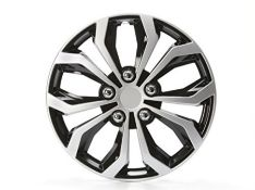 Cartrend 75568 Daytona Wheel Trims, Set of 4, Black / Silver, 15 inches