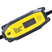 AA AA0725 4A Intelligent Car Battery Charger - LCD, 8 Stage, Recover Dead Battery, Up