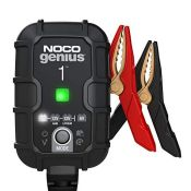 NOCO GENIUS1UK, 1-Amp Fully-Automatic Smart Charger, 6V And 12V Battery Charging Units