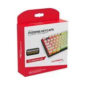 HyperX Pudding Keycaps - Full Key Set - PBT - White - English (US) Layout - 104 Key, B
