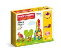 Magformers My First 30-piece Magnetic Construction Set In Bright Solid Colours. Helps
