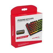 HyperX Pudding Keycaps - Full Key Set - PBT - Black - English (US) Layout - 104 Key, B