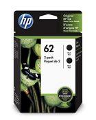HP 62   2 Ink Cartridges   Black   C2P04AN