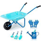 [INCOMPLETE] Colwelt Kids Metal Wheelbarrow 6Pcs, Childrens Wheelbarrow Kids Gardening