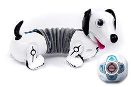 SilverLit 88570 Robo Dash/Dackel, Remote Control Dog for Kids, White
