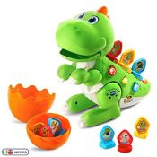 VTech Learn & Dance Dino Baby Interactive Toy, Educational Baby Musical Toy with Shape
