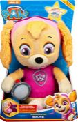 PAW Patrol Snuggle Up Skye Plush with Torch and Sounds, for Kids Aged 3 Years and Over