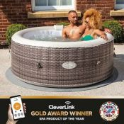 RRP £529.00 CleverSpa Waikiki 4 Person Hot Tub Spa w/ App Control - High End (faulty not inflating