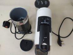 RRP £198.00 Nespresso Essenza Mini Coffee Machine with Aeroccino, Pure White by Magimix