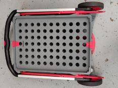 RRP £112.00 Clax Red Edition Folding Mobile Trolley without Folding Box