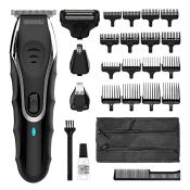 RRP £93.00 Wahl Beard Trimmer Aqua Blade 10-in-1 Hair Trimmer with Beard Oil 30 ml, Stubble Trimm