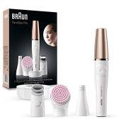 RRP £129.00 Braun FaceSpa Pro SE912 All-in-One Beauty Face Including Facial Epilator, Toner Head a