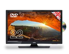 """RRP £209.00 Cello 22"""" C22230FT2S2 12 Volt LED TV/DVD Freeview HD and Satellite Tuner Made In The U"""