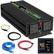RRP £175.00 Power Inverter Pure Sine Wave-1500 Watt 24V DC to 230V/240V AC Converter-2AC Outlets C
