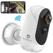 RRP £51.00 WONGKUO 2021 Security Camera Outdoor Wireless 170 Wide Angle View WiFi CCTV Rechargeab