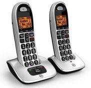 RRP £54.00 BT 4000 Big Button Advanced Call Blocker Home Phone (Twin Handset Pack)